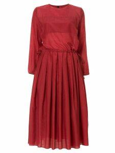 Sara Lanzi pleated detail dress - Red