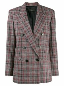 Isabel Marant checked double-breasted blazer - Red