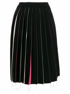 Marni multicoloured panel midi skirt - Black
