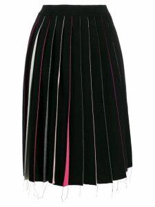 Marni multicoloured panel midi skirt - Black