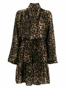 John Richmond leopard print mini dress - Brown