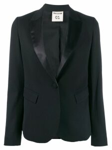 Semicouture single-breasted slim-fit blazer - Black