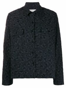 YMC embroidered long-sleeve shirt - Black