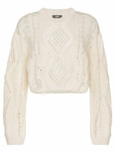Amiri open-knit jumper - White