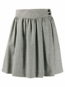 MSGM houndstooth pleated mini skirt - Black
