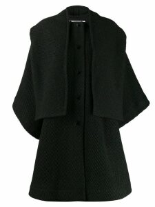 See By Chloé textured cape coat - Green