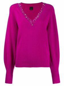 Pinko stone embellished jumper