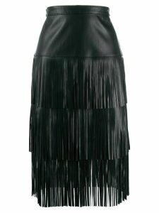 Karl Lagerfeld fringed skirt - Black