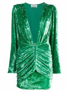 Attico stud detail textured dress - Green