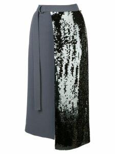 Tibi sequinned wrap skirt - Grey