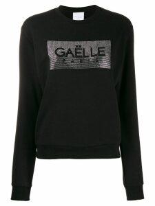 Gaelle Bonheur crystal embellished sweatshirt - Black