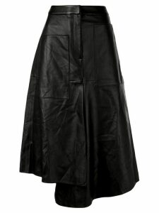 Tibi asymmetric leather skirt - Black