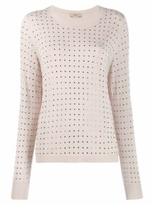 Liu Jo square studded jumper - Pink