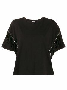 Liu Jo fringed T-shirt - Black