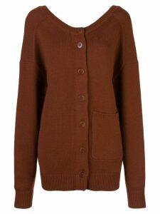 Tibi two-way cardigan sweater - Brown