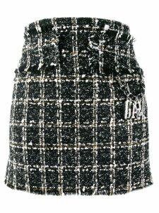 Gaelle Bonheur tweed mini skirt - Black