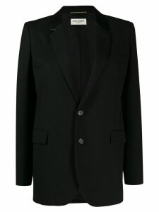 Saint Laurent contrasting lapel blazer - Black