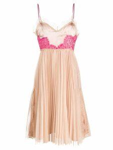 Pinko contrast pleated mini dress - Neutrals