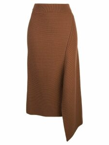 Tibi asymmetric Origami skirt - Brown