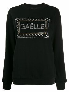 Gaelle Bonheur embellished logo jumper - Black