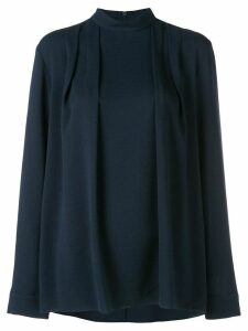 Tibi Savanna crepe pleated top - Blue