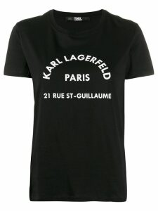 Karl Lagerfeld signature T-shirt - Black