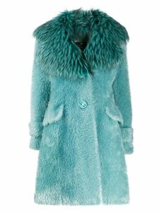 Elisabetta Franchi oversized coat - Blue