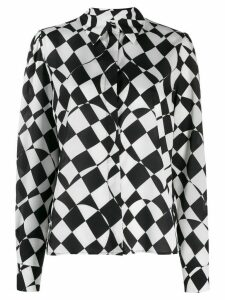 MSGM check print shirt - White