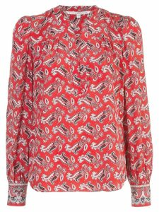 Veronica Beard paisley blouse - Red