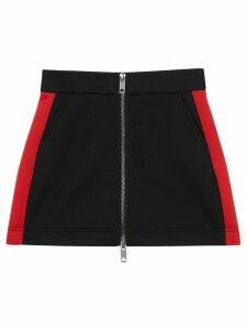 Burberry Logo Detail Neoprene Mini Skirt - Black