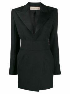 Alexandre Vauthier crystal embellished button dress - Black