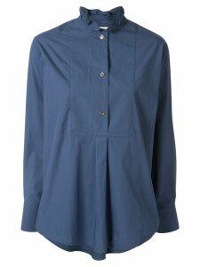 Atlantique Ascoli loose-fit ruffled-neck blouse - Blue