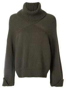 Rosetta Getty cropped panelled jumper - Green