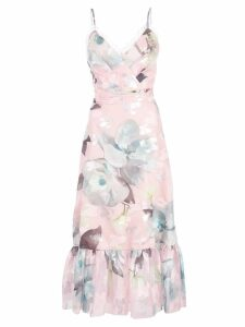 Marchesa Notte floral fils coupe cocktail dress - Pink