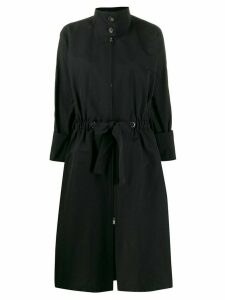 Plan C drawstring waist coat - Black