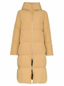 Jil Sander zip-front puffer coat - Neutrals