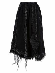 Renli Su asymmetric flared skirt - Black