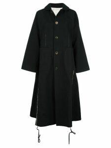 Renli Su oversized single-breasted coat - Black