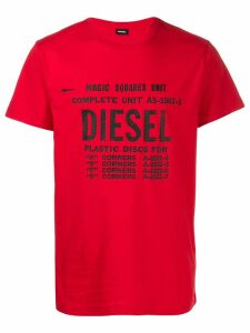 Diesel logo print T-shirt - Red