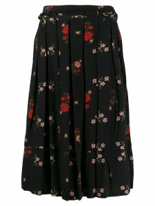 Simone Rocha floral pleated skirt - Black
