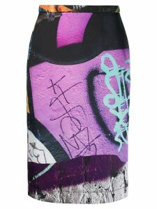 Marques'Almeida Graffiti skirt - PURPLE