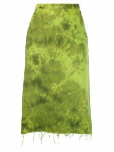 Marques'Almeida tie-dye skirt - Green