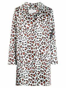 Marques'Almeida leopard-print coat - White