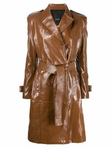 Pinko patent trench coat - Brown