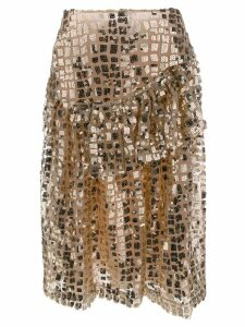 Simone Rocha ruffled sequin skirt - Gold