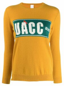 Ultràchic intarsia fine knit jumper - Yellow
