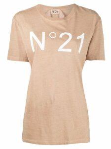 Nº21 logo printed T-shirt - Neutrals