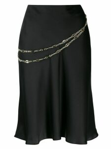 Paco Rabanne chain detail skirt - Black