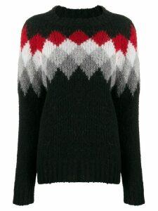Woolrich patterned wool knit jumper - Black