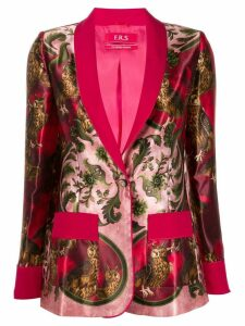 F.R.S For Restless Sleepers owl print blazer - PINK